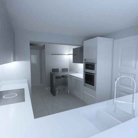 gloss white nobilia german kitchen 2