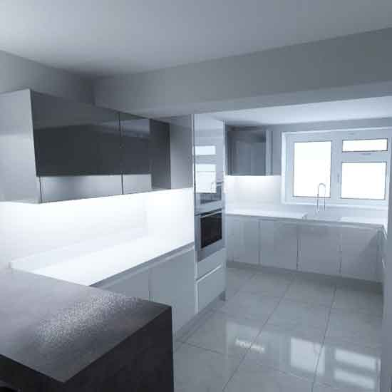 gloss white nobilia german kitchen 1
